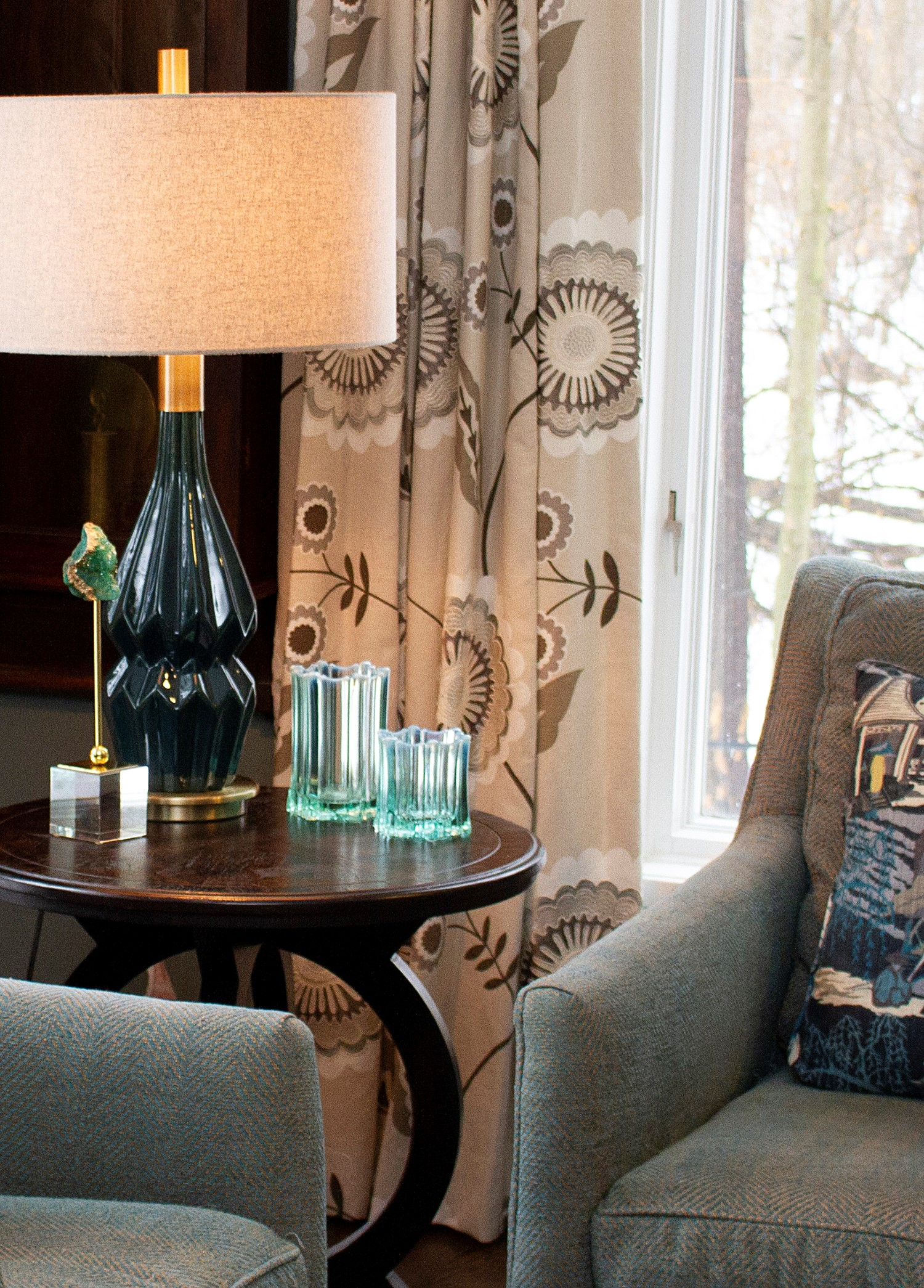 Manhattan Textiles Chairs, End Table, and Lamp by Manhattan Textiles - Interior Designer in Milwaukee, WI